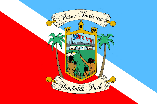 Paseo Boricua Municipal Flag of Puerto Rico smaller